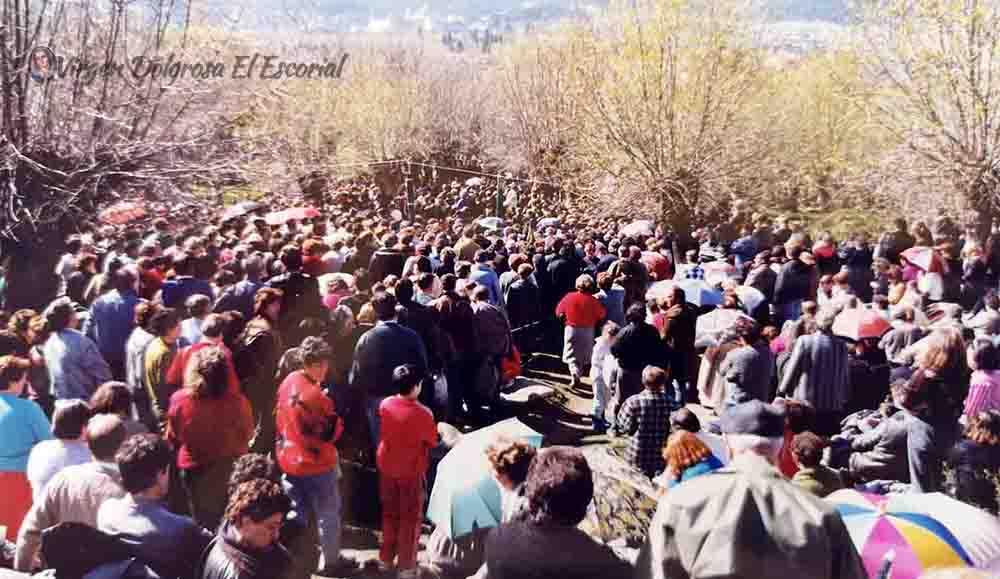 peregrinos en prado nuevo 1981-1985 apariciones de el escorial prado nuevo