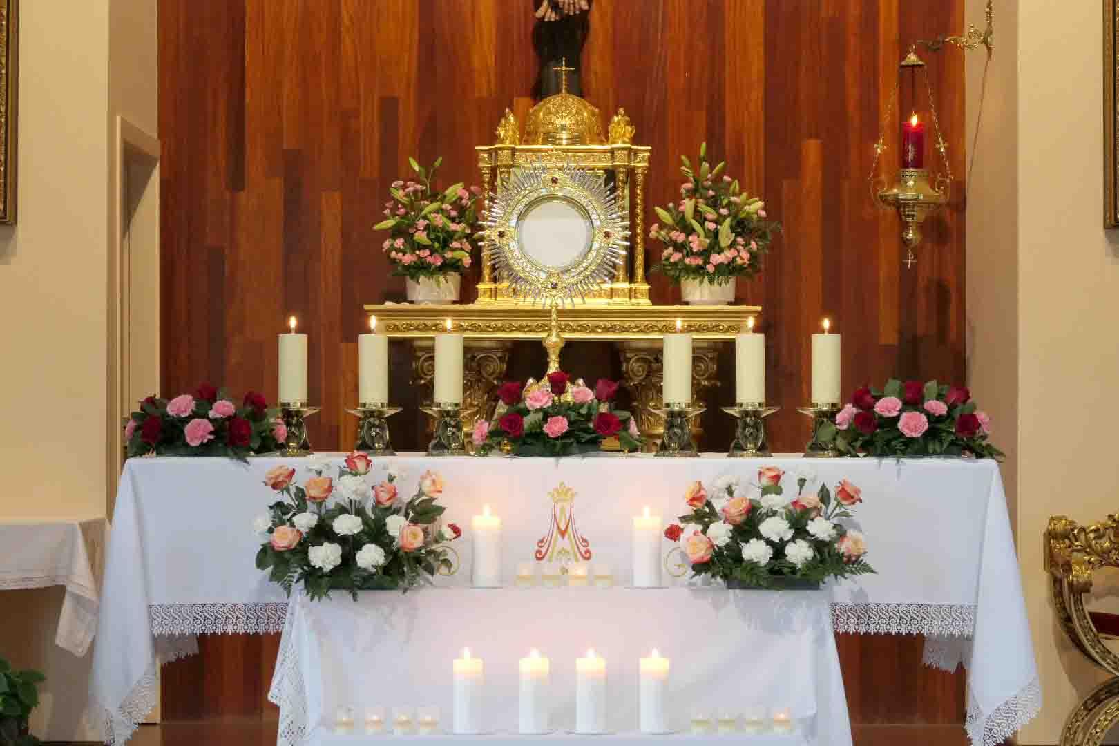 Adoración al Santísimo Virgen Dolorosa El Escorial prado nuevo iglesia
