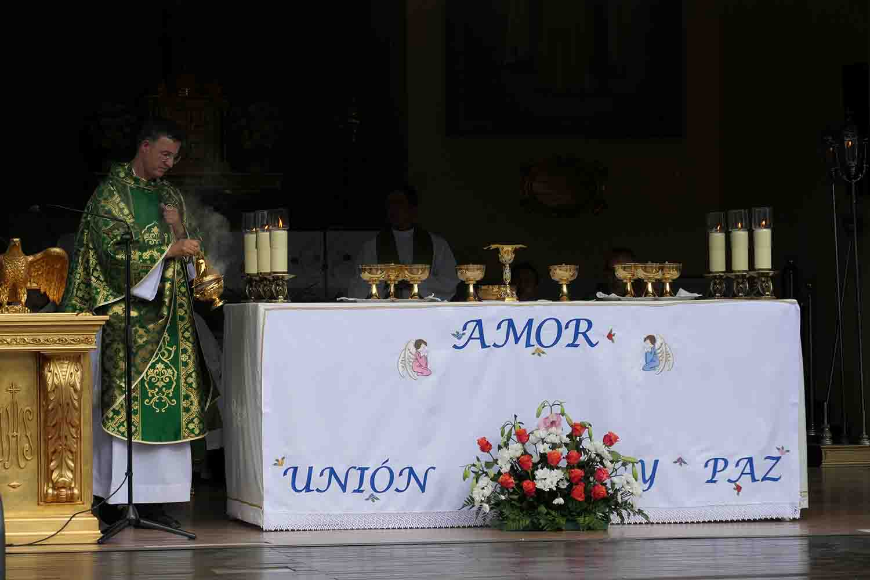 Misa primer sábado de mes en El Escorial virgen de los dolores  capilla prado nuevo